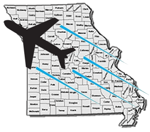 Fly Missouri Imagery Logo